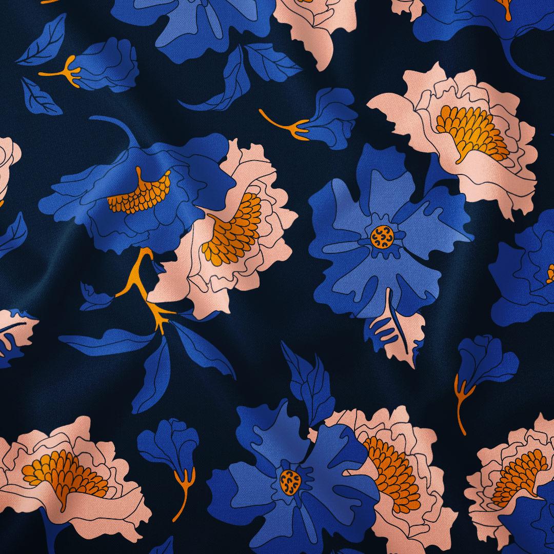 motif florale imprimé sur tissu