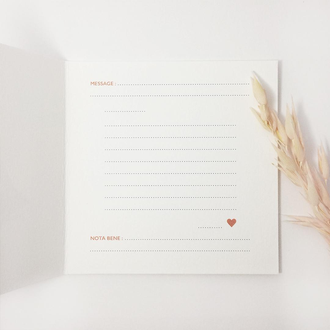 carte postale love letter intérieur