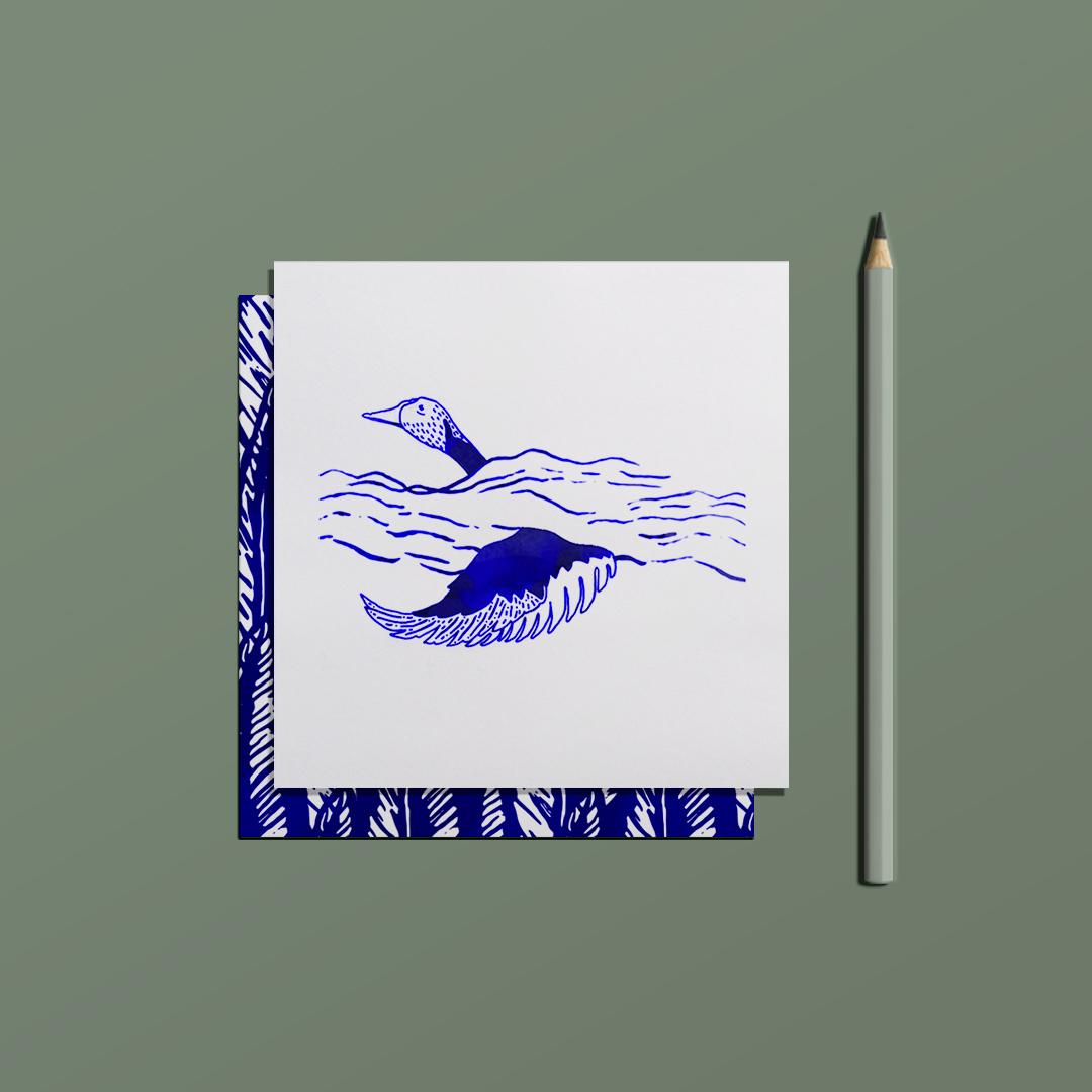 ensemble carte postale love letter et enveloppe legend