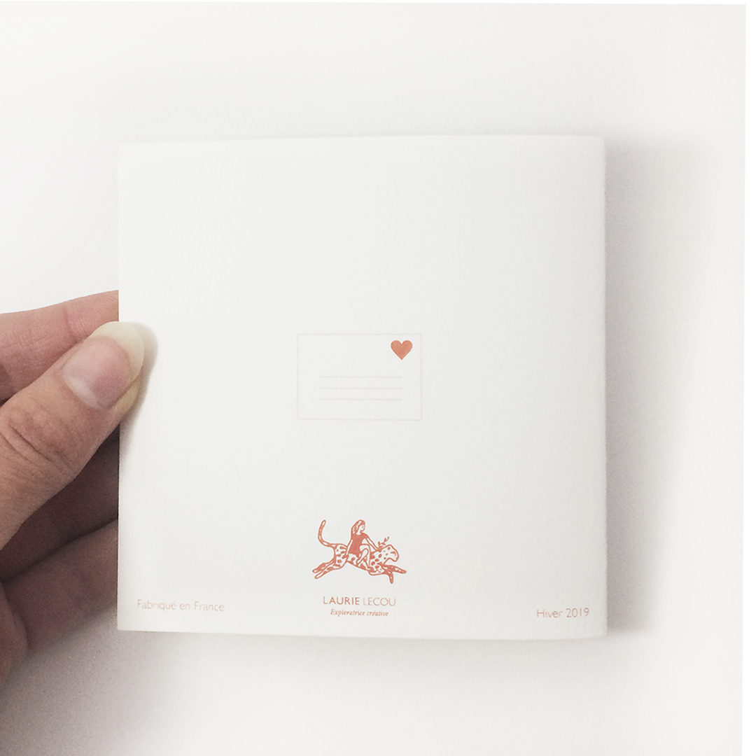 carte postale love letter verso