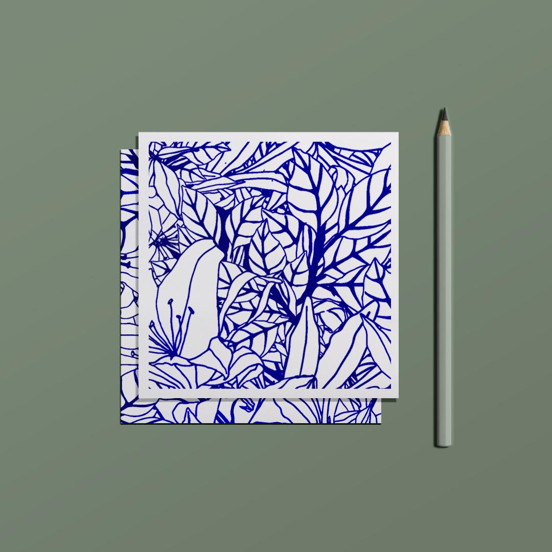 ensemble carte postale love letter et enveloppe overgrown
