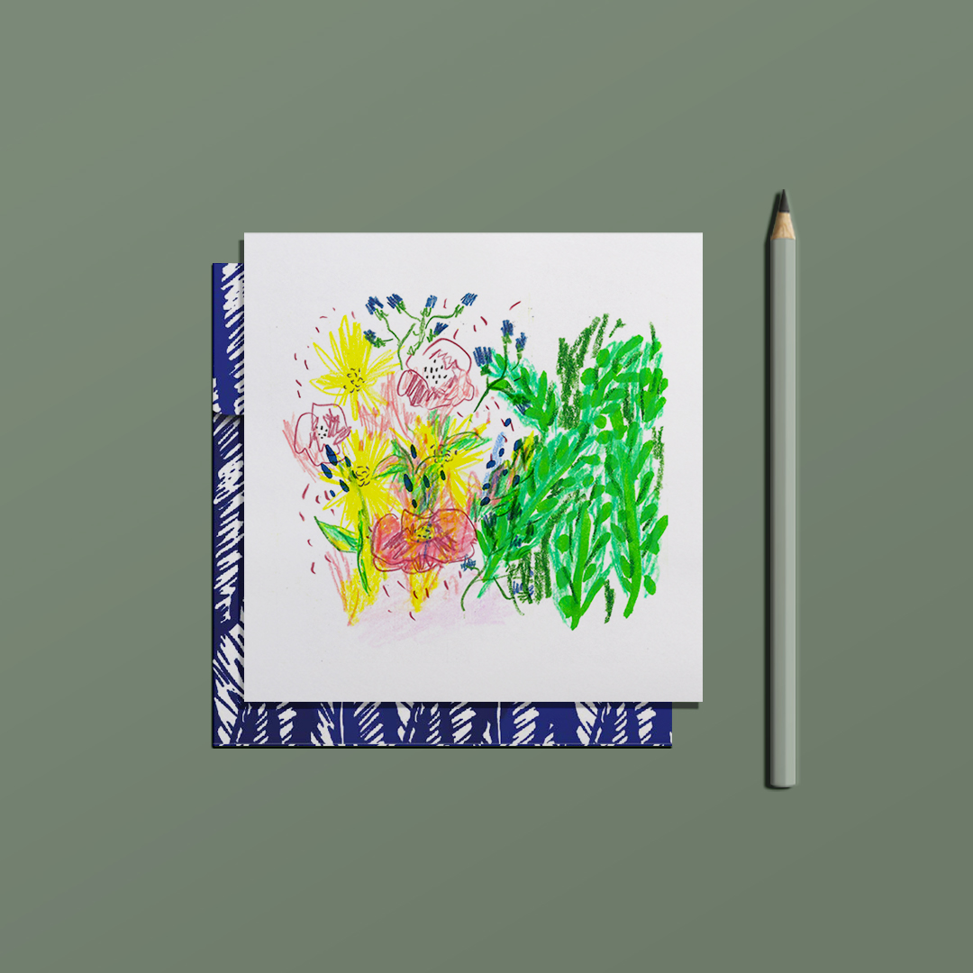 ensemble carte postale love letter et enveloppe wild